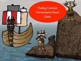 Finding Common Denominators Board Game - Viking Theme