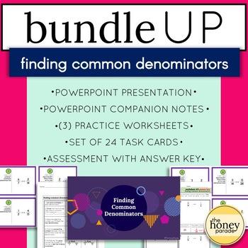 Finding Common Denominators - Complete BUNDLE!