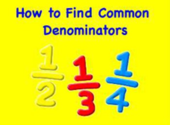 Finding Common Denominators Flipchart