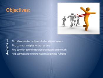 Finding Common Denominators PowerPoint Presentation - 5.NF.1