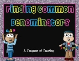 Finding Common Denominators Task Cards