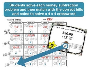 Finding Correct Change Task Cards with Self-checking Answer Code