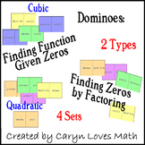 Finding Cubic & Quadratic Equations given ZEROS Dominoes/Sort