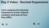 Finding Decimal Expansions for rational and irrational numbers