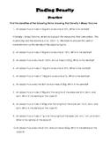 Finding Density Practice Worksheet and Quiz
