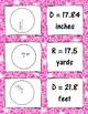 Finding Diameter and Radius of Circles Memory Match