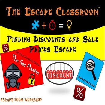 Finding Discounts and sale prices Escape Room | The Escape Classroom