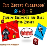 Finding Discounts and sale prices Escape Room   The Escape Classroom