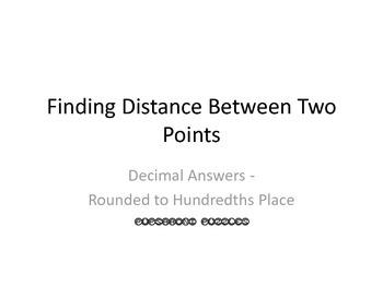 Finding Distance Between Two Points Scavenger Hunt - Decim