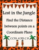 Finding Distance Between Points on a Coordinate Plane - CC
