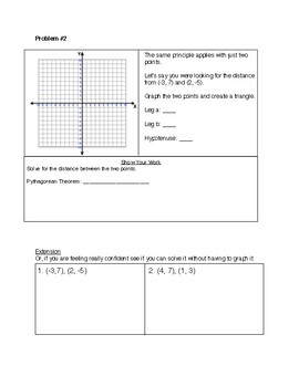 Finding Distance on a Coordinate Plane