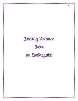 Finding Distance to an Earthquake