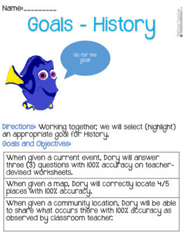 Finding Dory: An IEP Process Project