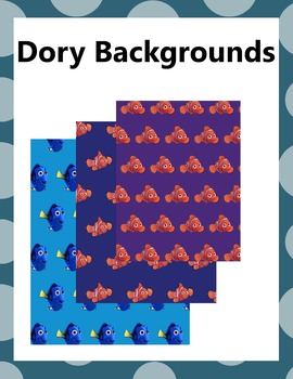 Finding Dory Backgrounds