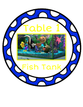 Finding Dory Classroom Decor: Table Signs