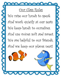 Finding Dory Classroom Rules