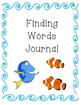 Finding Dory Finding Words Journal