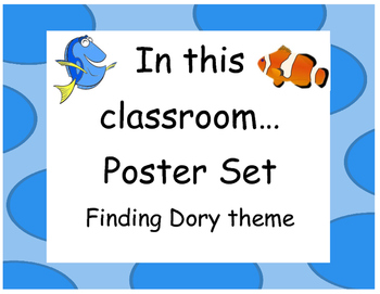 Finding Dory In This Classroom Poster Set