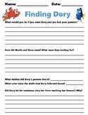 Finding Dory Movie Worksheet