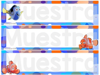 Finding Dory Name plates