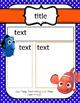 Finding Dory/Nemo Editable Newsletter