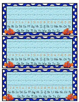 Finding Dory/Nemo Nameplates Desk Tags 1-20