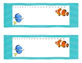 Finding Dory/ Ocean theme Desk Plates