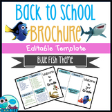 Blue Fish Themed - Brochure - EDITABLE