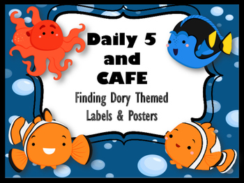 Finding Dory/Nemo Theme DAILY 5 & CAFE Label/Poster Set
