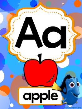 Finding Dory alphabet posters