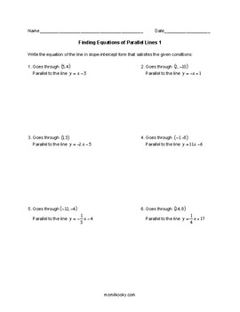 Find Equation of a Line Parallel to a Given Line that Passes through Given Point