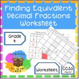 Finding Equivalent Decimal Fractions - Worksheet (4.NF.5)