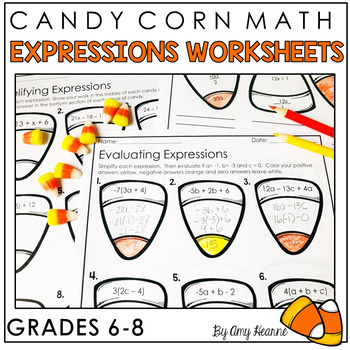 Fall Themed Finding Equivalent Expressions (6th Grade Common Core Math)