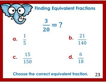 Finding Equivalent Fractions Task Cards