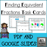 Finding Equivalent Fractions 50 Task Cards - Google and PD