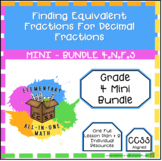 Finding Equivalent Fractions For Decimal Fractions - Mini Bundle (4.NF.5)