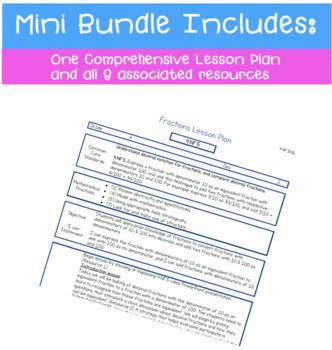 Finding Equivalent Fractions For Decimal Fractions - Mini Bundle (4.NF.5)