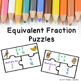 4th Grade Equivalent Fractions using Multiplication Activity Game Puzzles 4.NF.1