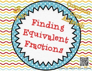 Finding Equivalent Fractions QR Task Cards