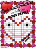 Finding Equivalent Fractions Valentine's Hidden Picture Se
