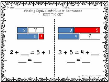 Finding Equivalent Number Sentences With Tape Diagrams