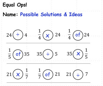 Dividing Unit Fractions Part 1: Equal Ops