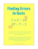 Finding Errors in Multiplication and Division Facts