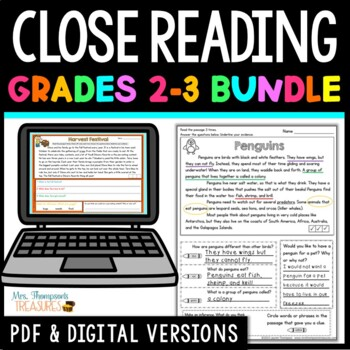 Finding Evidence & Making Inferences Reading Comprehension Passages - BUNDLE