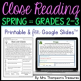 Spring Reading Comprehension Activities - Text Evidence &
