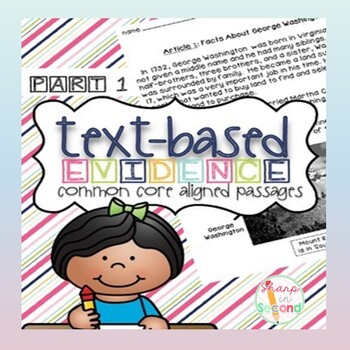 Finding Text-Based Evidence in Reading Passages PART 1 {Common Core Aligned}