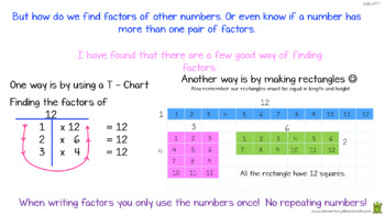 Finding Factor Pairs For Whole Numbers From 1 to 100.  4th Grade Math 4.OA.4