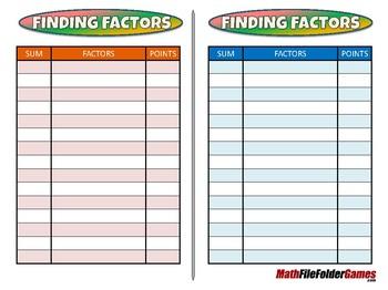 Finding Factors - 4th Grade Game [CCSS 4.OA.B.4].