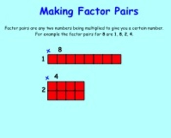 Finding Factors Interactive Smartboard Lessons and Printables Gr 3