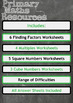 Finding Factors, Multiples, Squares and Cubes Worksheet Bundle
